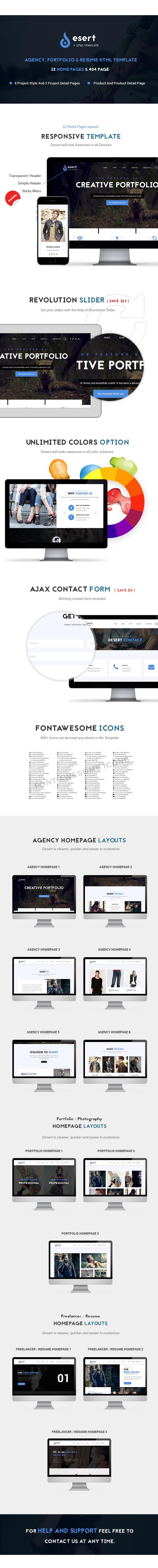 Desert - Agency & Portfolio HTML Template