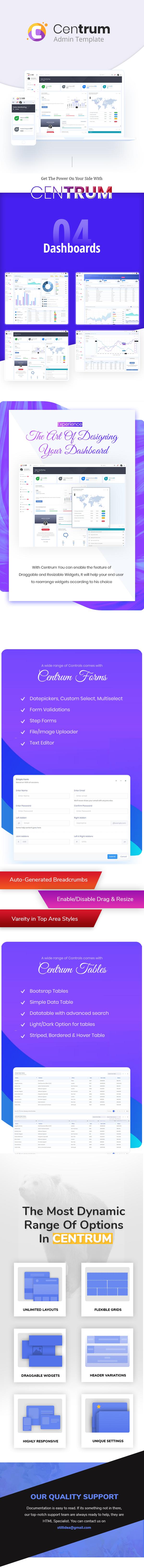 Centrum - Responsive Bootstrap 4 Admin Dashboard Template